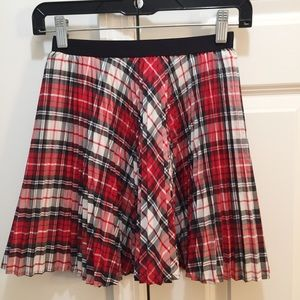 Gap Plaid Pleated Skirt Sz M 8-9